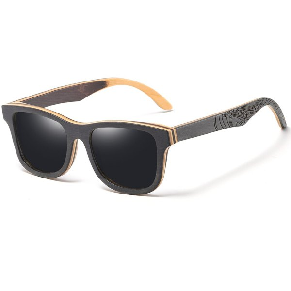 gravírozott szárú napszemüveg sötét szürke