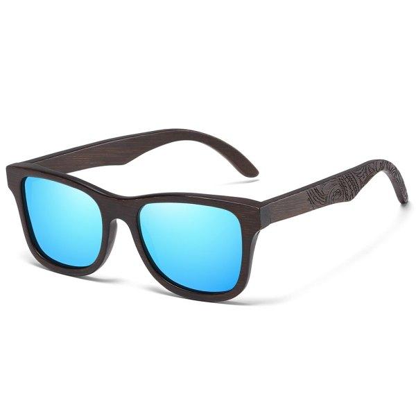gravírozott szárú napszemüveg kék tükör