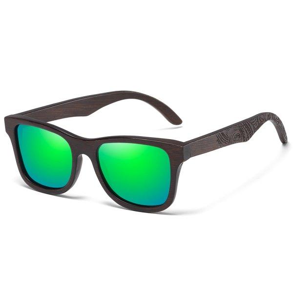 gravírozott szárú napszemüveg zöld tükör