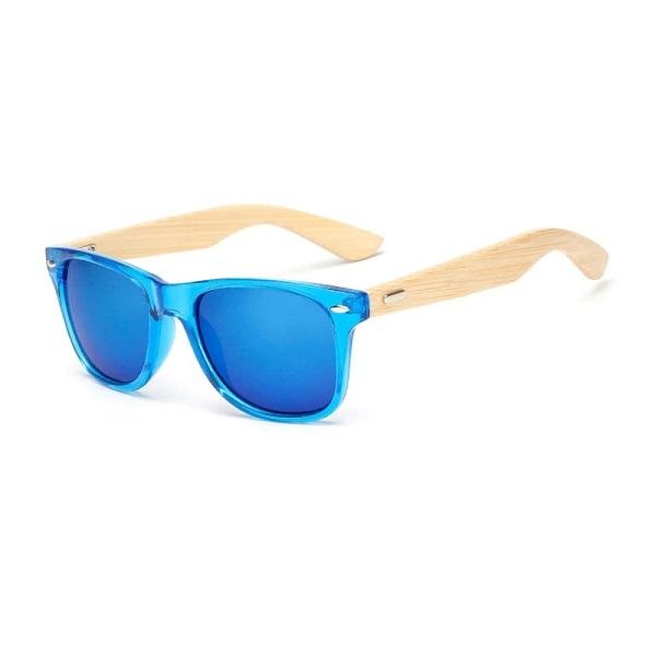 kék áttetsző napszemüveg bambusz