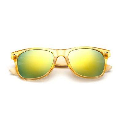Sunny sárga áttetsző napszemüveg bambusz szárral